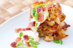 How to make crispy bacon roasted smashed potatoes. Easy recipe!