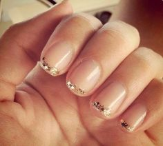 A manicure is a cosmetic elegance therapy for the finger nails and hands. A manicure could deal with just the hands, just the nails, or Love Nails, How To Do Nails, Pretty Nails, My Nails, Glam Nails, Happy Nails, Nails Inc, Pink Nails, Glitter French Tips