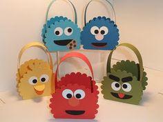 Sesame Street favor bags.