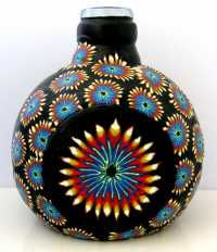 gorgeous bottle, polymer clay, dawna is the great artist