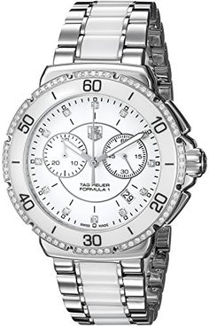 """TAG Heuer Women's CAH1213.BA0863 """"Formula One"""" Stainless Steel Watch with Diamonds * Visit the image link more details."""