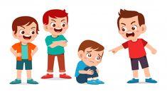 Sad cute kid get bullied by friend Premi...   Premium Vector #Freepik #vector #children Kids Cartoon Characters, Cartoon Kids, Teen Bullying, Boy And Girl Drawing, Naughty Kids, Friends Illustration, Angry Child, Friend Cartoon, Superhero Kids