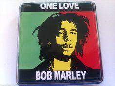 BOB MARLEY Design King Size CIGARETTE CASE HOLDER / BOX - Holds 18/20 Cigarettes