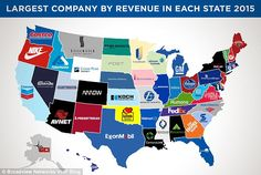 A new map has revealed the richest company in each state based on total revenue from the last year, and Wal-Mart has once again taken the top spot