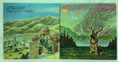 Little Feat Lot of 2 Vinyl Record Albums Hoy-Hoy + Time Loves A Hero LPs