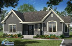 Versaille couleur exterieur inspiration Ranch House Plans, Dream House Plans, Exterior Paint Colors For House, Exterior Colors, House Front, My House, Modular Floor Plans, Exterior Remodel, House Goals