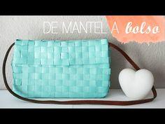 DIY ~ Bolso de mano con un mantel - YouTube