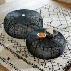 Set of 2 bangor low round steel wire tables , black, La Redoute Interieurs Coffee Table Argos, Round Coffee Table Sets, Coffee Table Kitchen, Wire Coffee Table, Wire Table, Coffee Table Size, Coffee Table Dimensions, Coffee Desk, Coffee Table With Storage