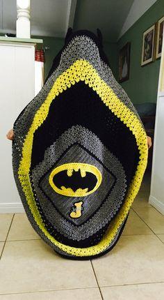 Crochet batman blanket/crochet by MommysTreasuresJA on Etsy