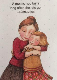 Handmade Fridge Magnet-Mary Engelbreit Artwork-A Mom's Hug #MaryEngelbreit