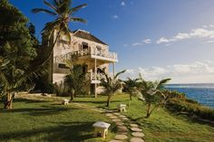 The old part of the Crane Beach hotel in Barbados - woke up from a nap with a burglar in our room who had climbed up a cliff face on the ocean side and onto our top floor balcony to get in.  So Pirate-ish - so scary