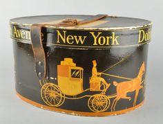 antique top hat box