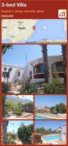3-bed Villa in Quijote Ii, Denia, Alicante, Spain ►€250,000 #PropertyForSaleInSpain