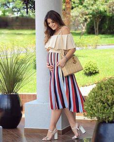 "8ef638418 Ariane Cânovas on Instagram  ""Curtindo meu 🤰🏻💙 Cada dia maior!🙏🏼🙏🏼   28semanas  pregnantstyle  pregnant  gravidacomestilo"". Embarazo Con EstiloRopa  De ..."