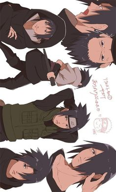Sasuke Uchiha Evolution