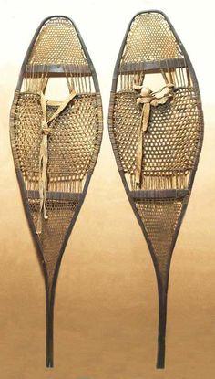Vintage, Antique Snowshoes - Indian Made