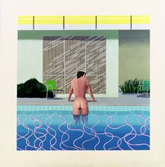 The homoerotic nature of Hockney's Swimming Pool series is so evident.
