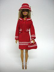 Red and ready to go (loststitch) Tags: doll handmade crochet barbie dollclothes