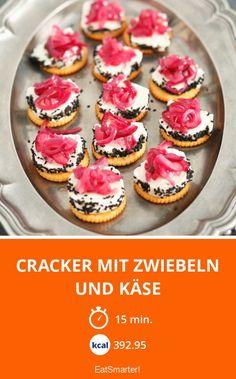 Cracker mit Zwiebeln und Käse - smarter - Kalorien: 392.95 Kcal - Zeit: 15 Min.   eatsmarter.de