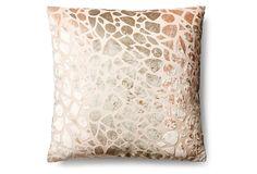 Cobble 20x20 Silk Pillow, Wheat on OneKingsLane.com