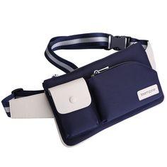 Men Women Girls Fanny Pack Messenger Waist Bag Leather and Nylon Bottle Pocket #teemzone #FannyWaistPack