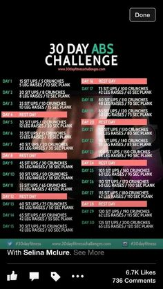 30 day an challenge