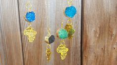 African jewelry African necklace Druzy necklace by MinimalMix
