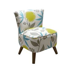 Like the colors in this fabric and it is fun. M - Soft Floral Lounge Chair | dotandbo.com