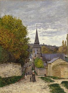 Street in Saint Andresse by Claude Monet