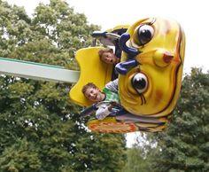 Duizelig draaien in de BeeBee in Amusementspark Tivoli.