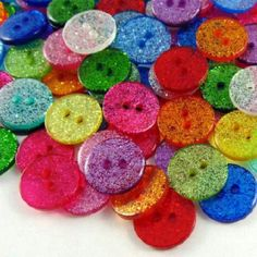 Glittery buttons for earrings, they'd be great for Christmas presents!
