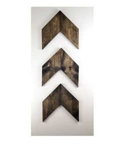 LARGE Rustic Wood Arrows Set of 3 Wall Arrows door MintageDesigns