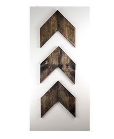 LARGE Rustic Wood Arrows Set of 3 Wall Arrows door MintageDesigns