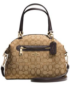 ff9546994990ee COACH PRAIRIE SATCHEL IN SIGNATURE CANVAS & Reviews - Handbags &  Accessories - Macy's