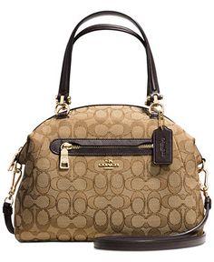 daa0cc206242 COACH PRAIRIE SATCHEL IN SIGNATURE CANVAS & Reviews - Handbags &  Accessories - Macy's