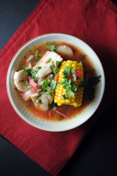 Mexican fish stew. Omit potatoes and it becomes low carb!