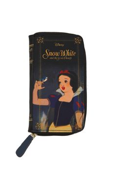 Disney Snow White and the Seven Dwarfs zip wallet from Loungefly. Interior includes two main pockets, one zipper pocket and lots of slots for your ID and cards.