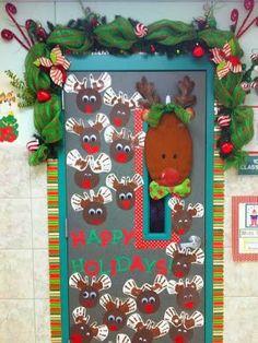 el arte de educar ideas para decorar la puerta del aula para navidades