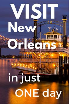 Part 2: Only one day to visit New Orleans? What to do? - Tracie Travels >>> A travel guide for visiting New Orleans in just a day. Be sure to start with Part 1!