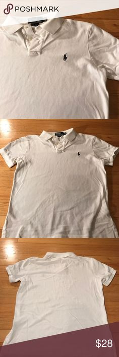 Ralph Lauren white polo (men's) Gently worn, good condition. No spots or stains. Polo by Ralph Lauren Shirts Polos