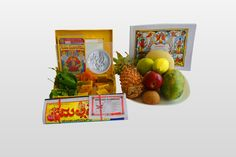 """Celebrate #Ugadi2016 peacefully!  Why go to crowded festival bazaars to purchase #UgadiFestiveItems?   You can now purchase Gigantic #UgadiFestiveBox online only at #BringHomeFestival which includes Kannada or Telegu #Calendar, Kannada or Telegu #Panchangam, Neem & Mango leaves, sweets, #UgadiPachadi and silver coin and get the purchased items delivered to your home on your preferred date.  Get 5% discount on each product you order. Use #PROMOCODE: """"Ugadi 2016"""" to avail the discount."""