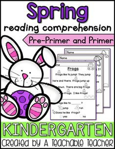 Kindergarten Spring Reading Comprehension can be so hard to find! These passages were designed specifically for emergent readers. I wrote these passages using pre-primer and primer sight words. All other words in the text have pictures clues above them. | reading intervention | decoding activities | struggling readers teaching reading beginning reading activities reading comprehension passages spring kindergarten reading first grade