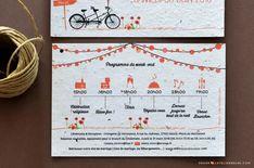Faire-part Tandem à bicyclette Papeterie écolo ensemencée Fleurie L'Atelier d'Elsa Tandem, Bullet Journal, Elsa, Pantone Color, Wedding Stationery, Quirky Wedding, Flowers, Bicycle Kick, Atelier