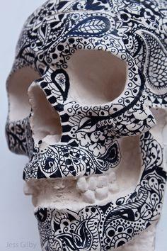 Drawn on #Skull #bnw
