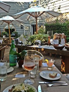 happy hour at Donna Karan's daughters restaurant Tutto il Giorno - 56 Nugent Street,  Southampton, NY