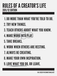 rules for a creative life
