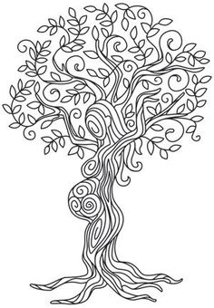 New Mother Nature Tattoo Goddesses Tree Of Life Urban Threads Ideas Paper Embroidery, Embroidery Stitches, Embroidery Patterns, Doily Patterns, Dress Patterns, Colouring Pages, Adult Coloring Pages, Coloring Books, Urban Threads