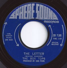 The Letter / Box Tops / on Billboard Fun Music, Music Songs, 45 Records, Vinyl Records, Rock N Roll Music, Rock And Roll, Kinds Of Music, Music Is Life, Center Labels