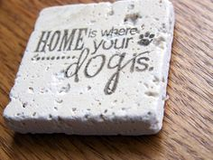 magnet natural stone tumbled tile   home is where by serenitylane, $4.00