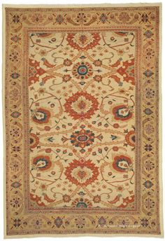 SULTANABAD, West Central Persian 9ft 0in x 13ft 2in Late 19th Century